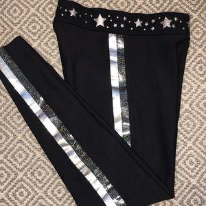 Ultracor & Soulcycle black/silver leggings sz Sm